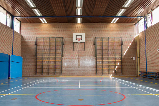 Interior of a gym at school