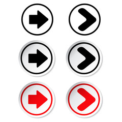 black and red arrow stickers