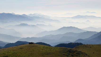 Canvas Prints Hill Haze layers