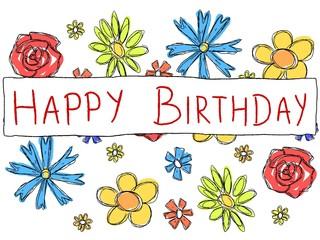 Happy Birthday card - vector illustration