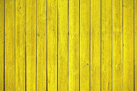 Old yellow wood panels