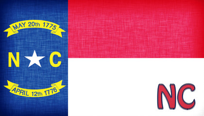 Linen flag of the US state of North Carolina