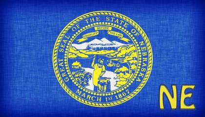 Linen flag of the US state of Nebraska