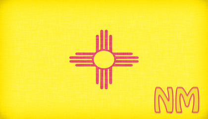 Linen flag of the US state of New Mexico