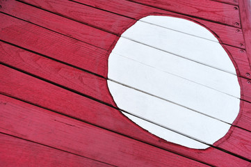 Background texture red wooden with white circle