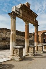 Ausgegrabene Ruinen in Pompeji