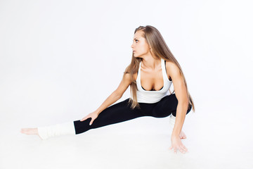 Woman stretching muscles