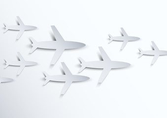 Background with airplanes
