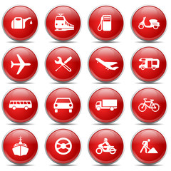 Red Icons Traffic