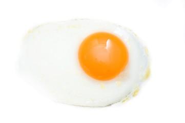 Aluminium Prints Egg Fried egg isolated on white background