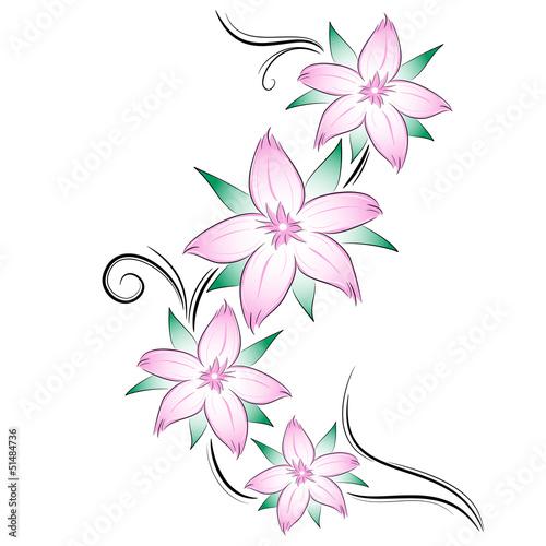 Tatuaggio fiori di ciliegio immagini e vettoriali for Fiori stilizzati colorati