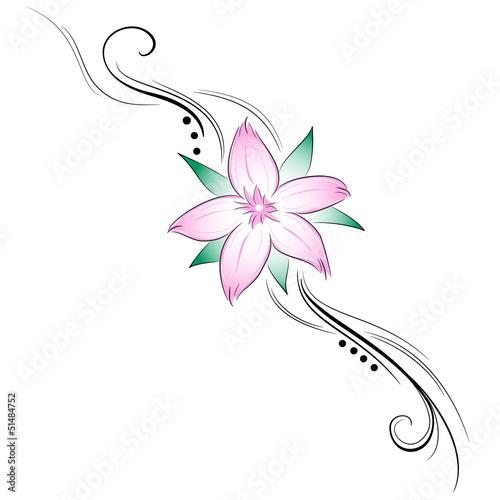 Fiori Di Ciliegio Stilizzati Tatuaggio Stock Image And Royalty Free