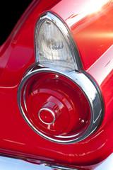 Classic car tail lights closeup