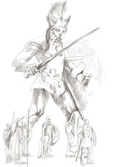 Greek myth and legends (Full sized hand drawing) - Talos