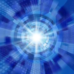 放射状のデジタルイメージ