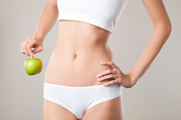 Perfect Slim Woman Body. Diet Concept