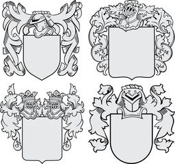 set of aristocratic emblems No6