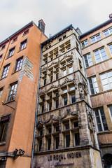 Façades d'immeubles dans le vieux Lyon