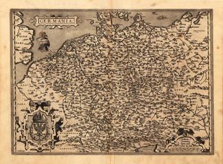 Germany vintage map
