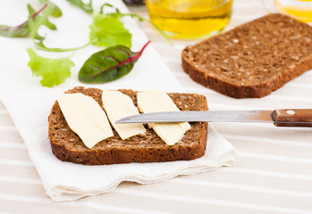 bread, knife and butter