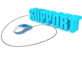 Computer mouse and support