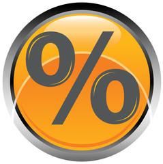 Logo simbolo percentuale