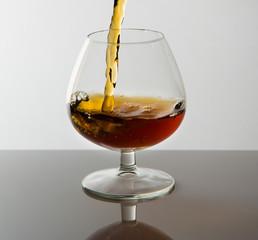 Cognac poured into glass