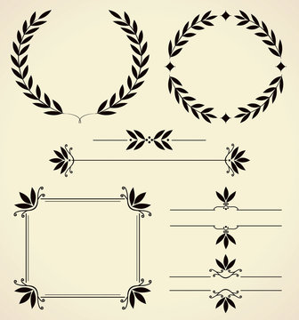 Set of design elements and page decoration.