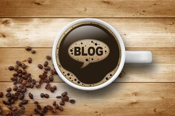 Kaffeetasse mit Blog
