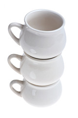 ceramic cooking pot on white