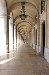 Arches in Praca do Comercio