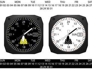 Airplane style clock,vector