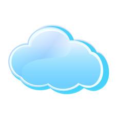 Cloud icon logo vector