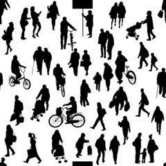街の人たち シルエット