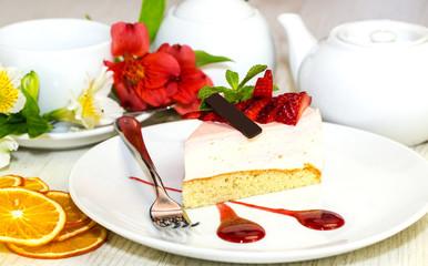 Посочный пирог к чаю