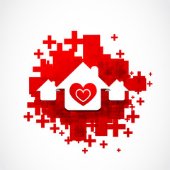 real estate love design illustration