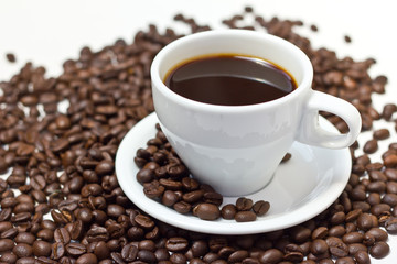 Coffee Bean and cup for background