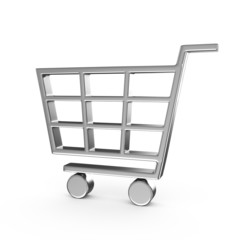 Shopping cart , isolated on white