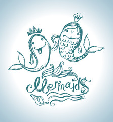 Funny funny mermaids.
