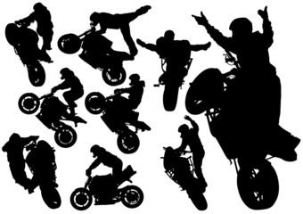 Fotomurales - Extreme man moto