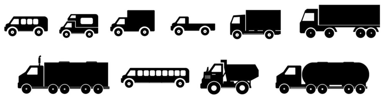 Camions en 10 icônes