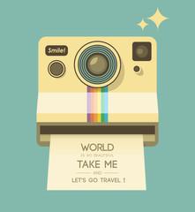 Vintage photo camera. Smile!