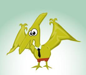 Cartoon Pterodactylus