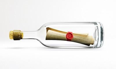 mail in bottle