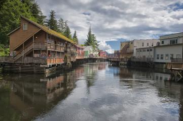 Ketchikan, Alaska, picturesque town view