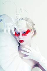 Creative Makeup False red eyelashes