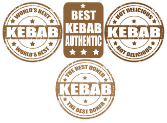 Set of kebab stamps