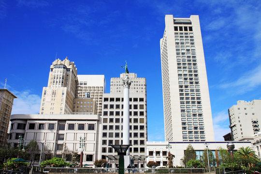 Union Square in San Francisco, California, Usa.Union Square in S