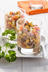 Insalata di tonno e verdure - Tuna salad and vegetables
