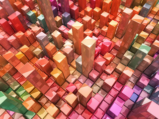 Abstract 3d world